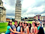 Just hanging out at the leaning tower